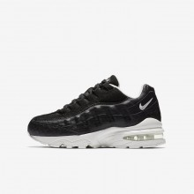 622HVJAL Boys Black/Summit White Nike Air Max 95 SE Lifestyle Shoes