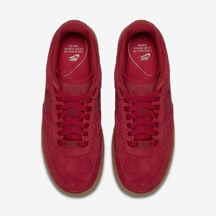 8649436a355bb ... 649BGYIF Womens Gym Red Gum Light Brown Speed Red Nike Air Force 1 07  ...