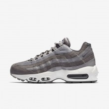 674YNSUO Womens Gunsmoke/Atmosphere Grey/Summit White Nike Air Max 95 LX Lifestyle Shoes