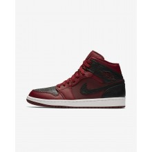 679YZWMX Mens Team Red/Summit White/Gym Red Air Jordan 1 Mid Lifestyle Shoes