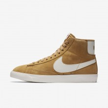 689OPMCW Womens Elemental Gold/Sail/Black Nike Blazer Mid Vintage Lifestyle Shoes
