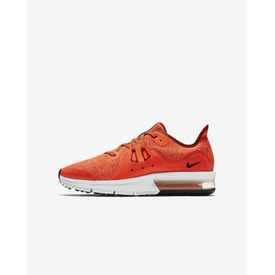 697RXFKY Chaussure Running Nike Air Max Sequent 3 Garcon Rouge/Blanche/Noir