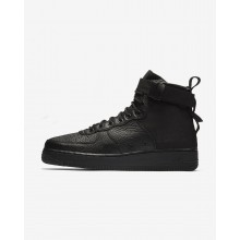 701MWLYC Mens Black Nike SF Air Force 1 Mid Lifestyle Shoes