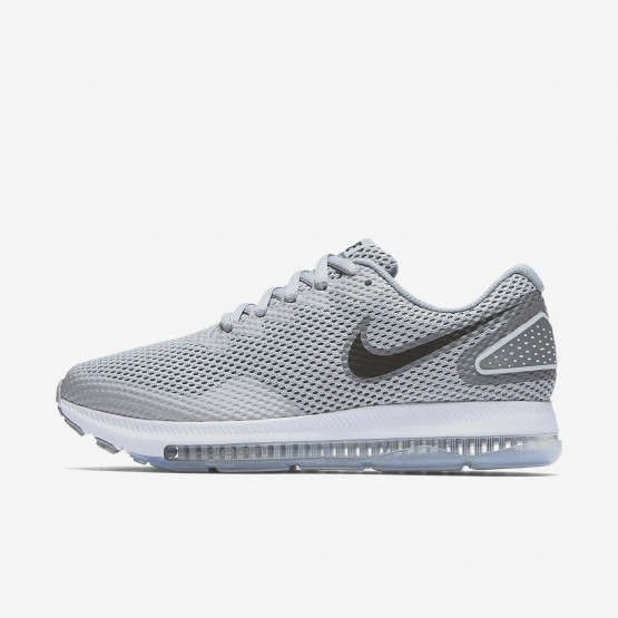703WHJOE Womens Wolf Grey/Cool Grey/White/Black Nike Zoom All Out Low 2 Running Shoes