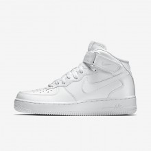 717YGKFS Mens White Nike Air Force 1 Mid 07 Lifestyle Shoes