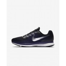 720WFMYZ Womens Black/Ink/Provence Purple/Metallic Silver Nike Air Zoom Pegasus 34 Running Shoes