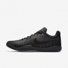 724BEYOV Mens Black/Dark Grey/Cool Grey Nike Mamba Rage Basketball Shoes