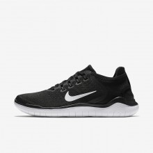725QVHAF Womens Black/White Nike Free RN 2018 Running Shoes