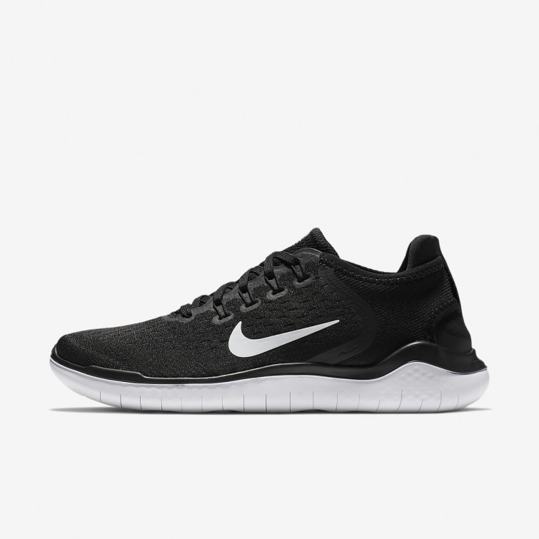 f467118f0266 Cheap Nike Free RN 2018 Running Shoes For Women Black White UK Free ...