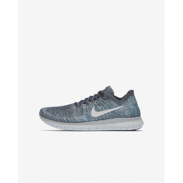 752MONHL Boys Blue Fox Wolf Grey White Pure Platinum Nike Free RN Flyknit a7086f068