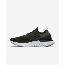 753PEMCT Womens Black/Dark Grey/Wolf Grey/White Nike Epic React Flyknit Running Shoes