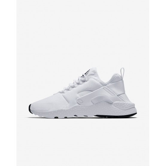 767KDUEG Womens White/Black Nike Air Huarache Ultra Lifestyle Shoes