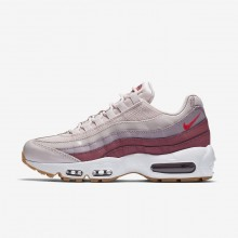 768IRPBF Womens Barely Rose/Vintage Wine/White/Hot Punch Nike Air Max 95 OG Lifestyle Shoes