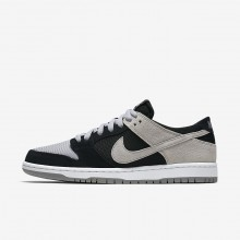 783GUCBV Mens Black/White/Wolf Grey Nike SB Dunk Low Pro Skateboarding Shoes