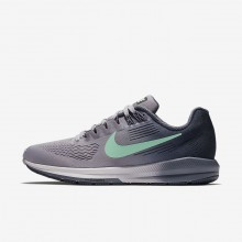 799AGQNT Zapatillas Running Nike Air Zoom Structure 21 Mujer Moradas/Azules/Claro Verde
