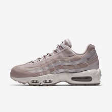 828FNLAS Womens Particle Rose/Vast Grey/Summit White Nike Air Max 95 LX Lifestyle Shoes