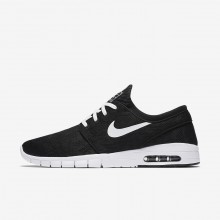 829HCABG Mens Black/White Nike SB Stefan Janoski Max Skateboarding Shoes