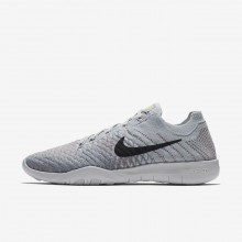 835KBZPL Womens Pure Platinum/Plum Fog/Mica Blue/Anthracite Nike Free TR Flyknit 2 Training Shoes