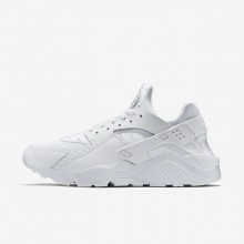 836WDQVI Mens White/Pure Platinum Nike Air Huarache Lifestyle Shoes