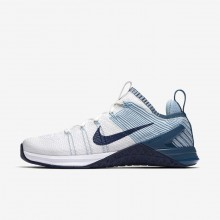 837CPHWS Womens White/Mica Blue/Night Factor/Navy Nike Metcon DSX Flyknit 2 Training Shoes