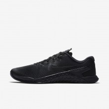 838NKQZS Mens Black/Hyper Crimson Nike Metcon 4 Training Shoes