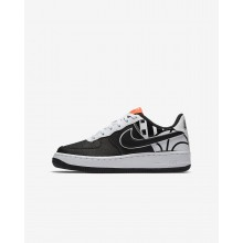 853XCSQT Boys Black/White Nike Air Force 1 LV8 Lifestyle Shoes