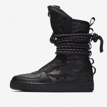 854YBZRE Mens Black/Dark Grey Nike SF Air Force 1 Hi Lifestyle Shoes