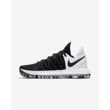 863EIDWM Womens Black/White Nike Zoom KDX Basketball Shoes