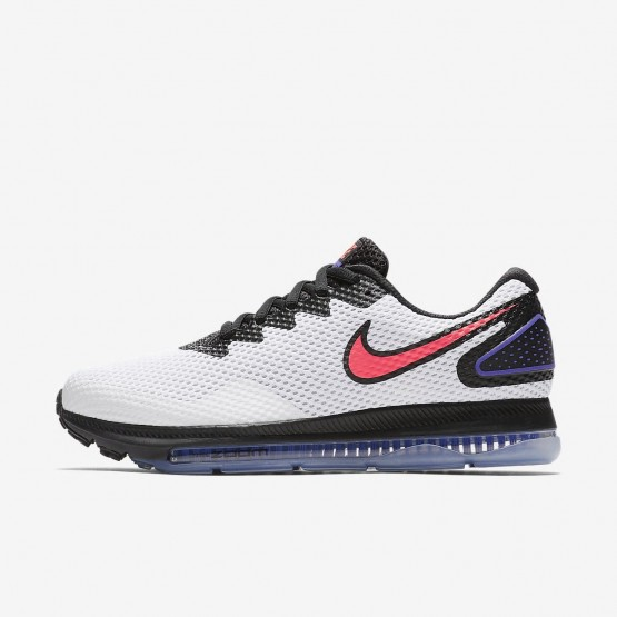 870ZJHID Womens White/Black/Solar Red Nike Zoom All Out Low 2 Running Shoes