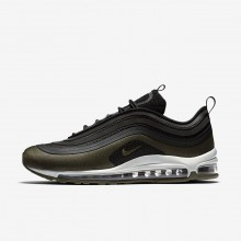 872DJOWR Zapatillas Casual Nike Air Max 97 Ultra 17 HAL Hombre Negras/Verde Oliva/Claro Oscuro