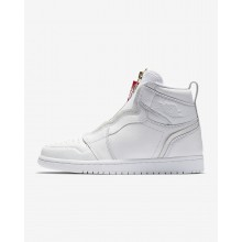 894OZHYF Womens White/University Red Air Jordan 1 High Zip Lifestyle Shoes