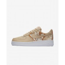 894UJBMS Mens Bio Beige/Orange Quartz/Terra Orange Nike Air Force 1 07 Low Lifestyle Shoes