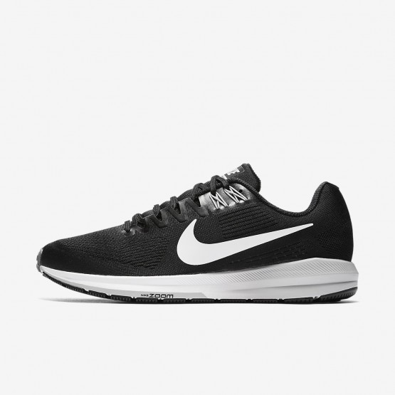 924IFGXS Mens Black/Wolf Grey/Cool Grey/White Nike Air Zoom Structure 21 Running Shoes