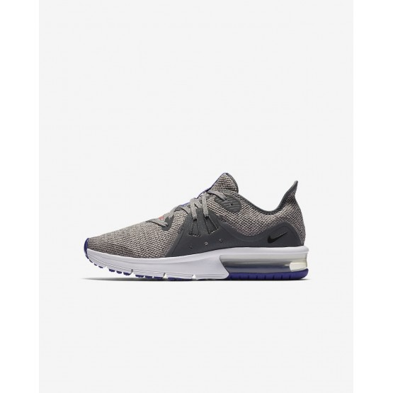 941ZIDQE Boys Dark Grey/Moon Particle/Persian Violet/Black Nike Air Max Sequent 3 Running Shoes