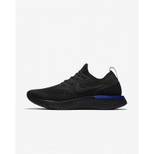 942ICDYT Womens Black/Racer Blue Nike Epic React Flyknit Running Shoes