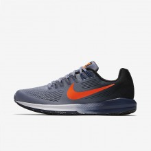 944UKWDJ Mens Dark Sky Blue/Black/Navy/Total Crimson Nike Air Zoom Structure 21 Running Shoes