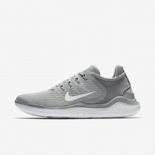 952HPVCX Womens Wolf Grey/White/Volt Nike Free RN 2018 Running Shoes