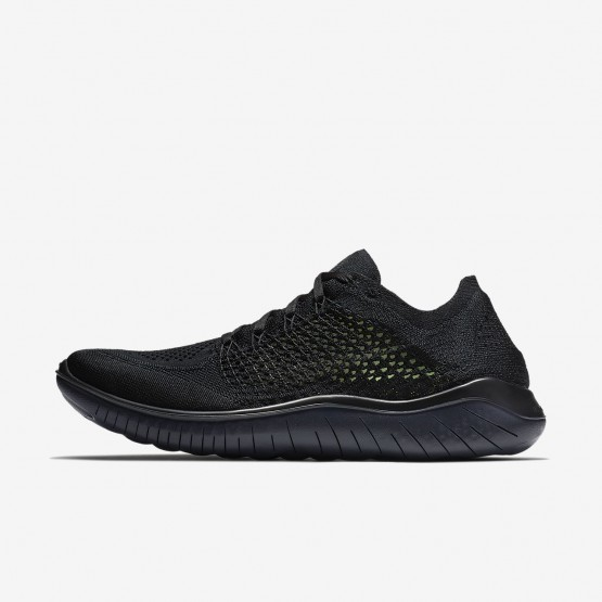 955HUIAX Mens Black/Anthracite Nike Free RN Flyknit 2018 Running Shoes