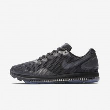 955VQBYU Mens Black/Anthracite/Dark Grey Nike Zoom All Out Low 2 Running Shoes