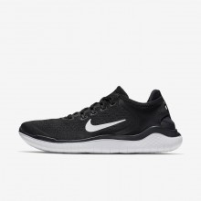 962ECDZF Mens Black/White Nike Free RN 2018 Running Shoes