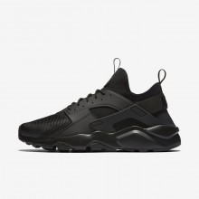 962FRYAS Mens Black Nike Air Huarache Ultra Lifestyle Shoes