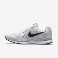 971OCEMR Womens White/Pure Platinum/Wolf Grey/Anthracite Nike Air Zoom Pegasus 34 Running Shoes