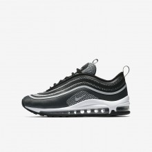 992HBWGN Boys Black/Anthracite/White/Pure Platinum Nike Air Max 97 Ultra 17 Lifestyle Shoes