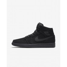 993TEJYN Mens Black/White Air Jordan 1 Mid Lifestyle Shoes